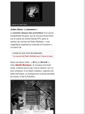Présentation de l'album sur RTL